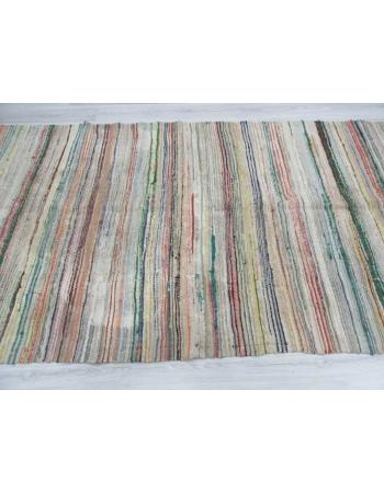Vintage unique Turkish rag rug