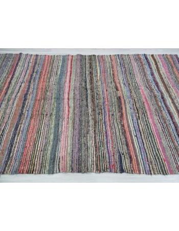 Vintage striped rag rug