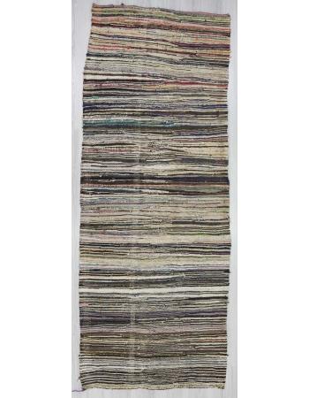 Vintage rag runner rug