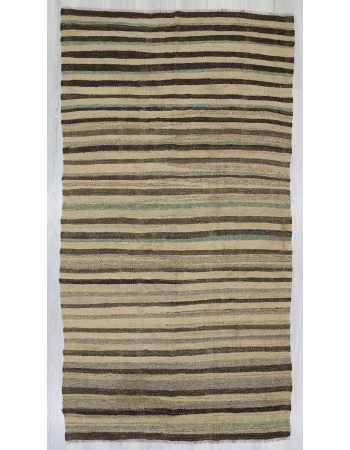 Striped vintage kilim rug