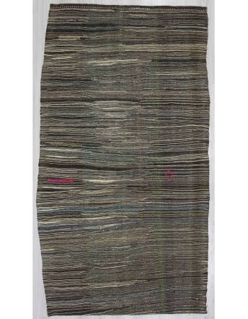 Vintage little striped kilim rug