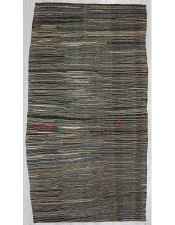 Vintage little striped kilim rug