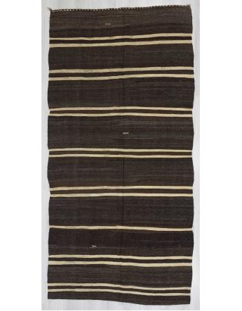 Vintage striped kilim rug