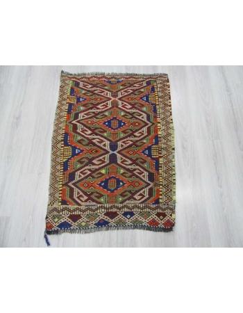 Vintage small mut kilim rug