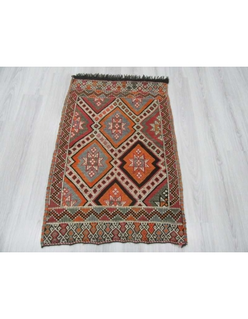 Small vintage kilim rug