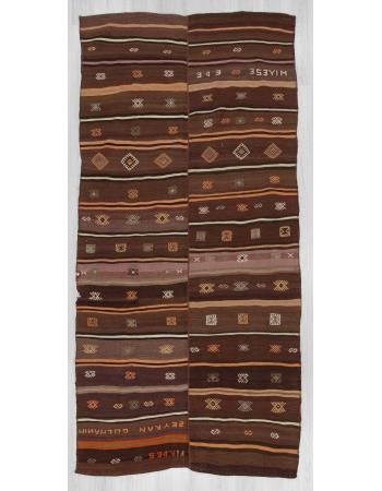 Vintage Turkish Kars kilim rug