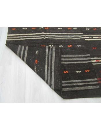 Black Vintage kilim rug