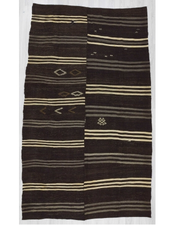 Striped Turkish kilim rug
