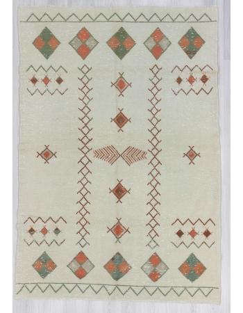 Vintage decorative Turkish area rug