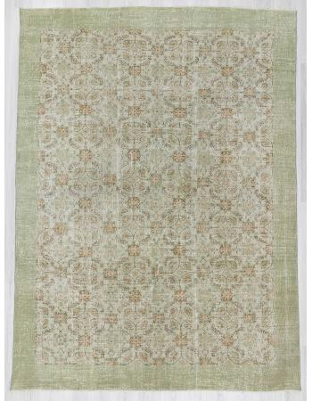 Vintage large floral Oushak rug