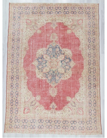 Vintage large Turkish Oushak rug