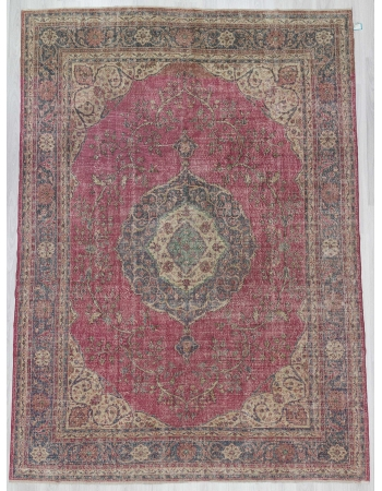 Large vintage Turkish Oushak rug