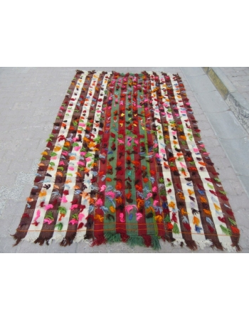Decorative colorful vintage filikli rug