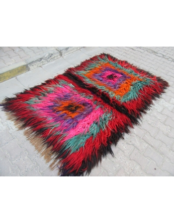 Colorful one of a kind tulu rug