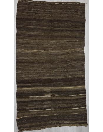 Vintage brown goat hair kilim rug