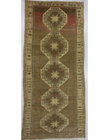 Washed out vintage Turkish Kars rug