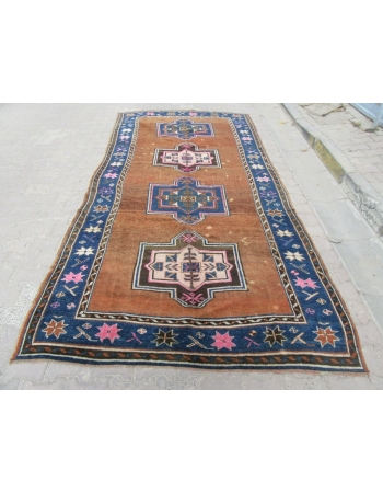 Vintage unique Turkish Kars rug