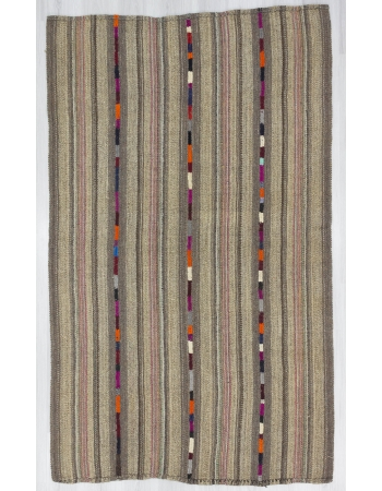 Vintage Wool Turkish Marash Kilim Rug