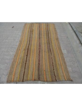Vintage Wool Turkish Marash Kilim Rug