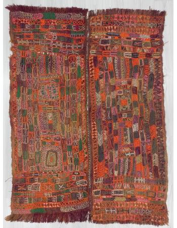 Vintage Wool North Iraq Kilim Rug