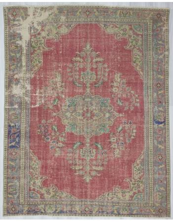Vintage Distressed, Traditional Oushak Rug