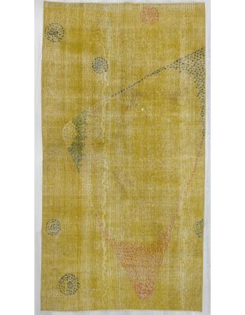 Vintage Yellow Oushak Rug