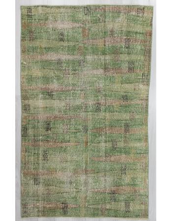 Vintage Green Oushak Rug