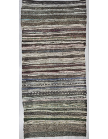 Vintage Vintage Modern, Striped Turkish Adana Kilim Rug