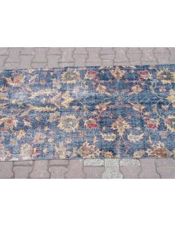 Vintage Floral, Traditional Blue Oushak Rug