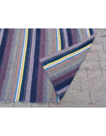 Vintage Wool Turkish Adana Kilim Rug