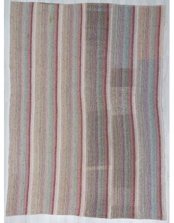 Vintage Striped, Vintage Modern Turkish Adana Kilim Rug