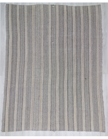 Vintage Gray Turkish Adana Kilim Rug