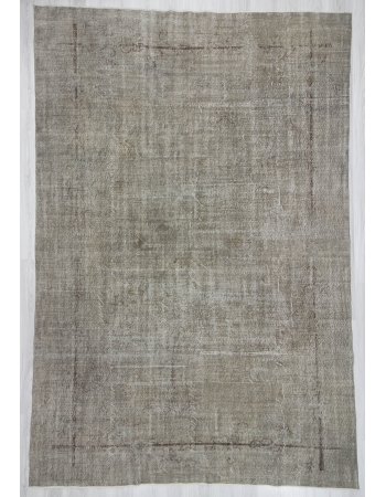 Vintage Gray Oushak Rug