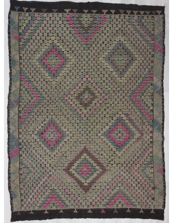 Vintage Turkish Denizli Kilim Rug