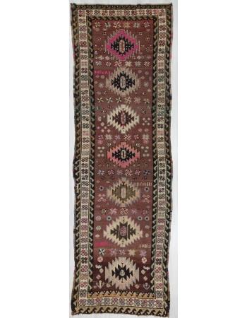 Vintage Traditional Wool Turkish Kars Rug