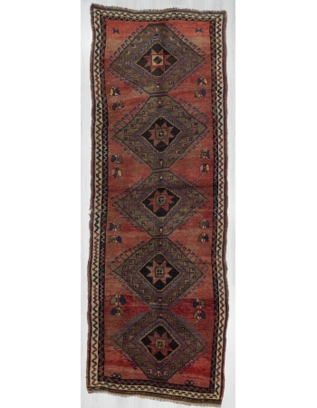 Vintage Traditional Wool Turkish Kars Rug