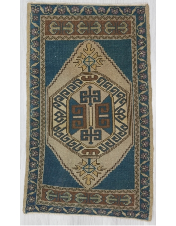 Vintage Washed Out Mini Oushak Rug