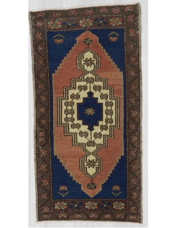 Handknotted Vintage Mini Turkish Carpet
