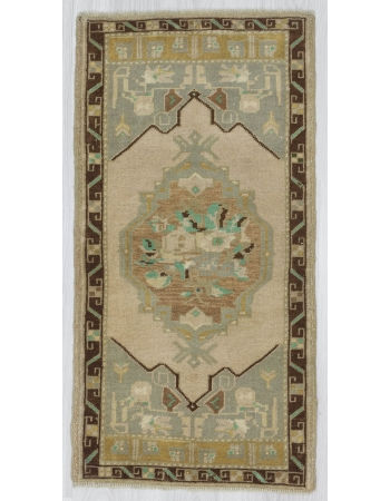 Handknotted Washed Out Mini Rug