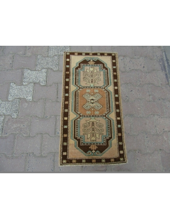 Vintage mini Geometric Turkish Carpet