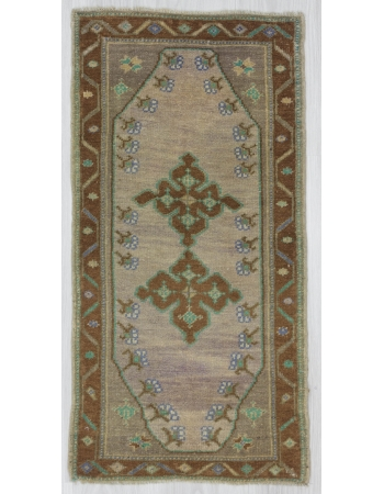 Decorative Washed Out Mini Turkish Carpet
