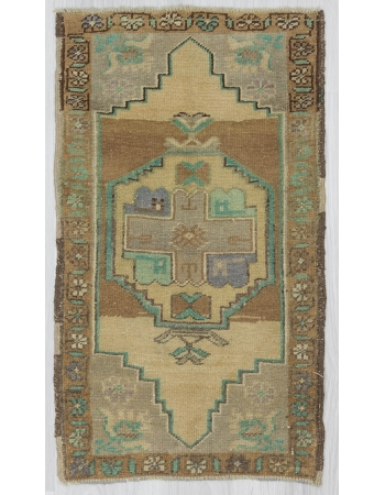 Vintage Mini Decorative Turkish Oushak Rug
