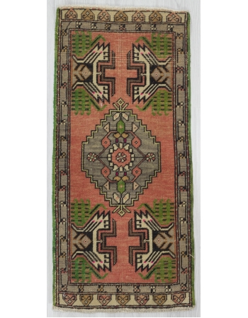 Vintage Mini Turkish Oushak Rug