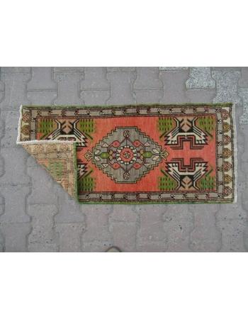 Vintage Mini Turkish Oushak Rug