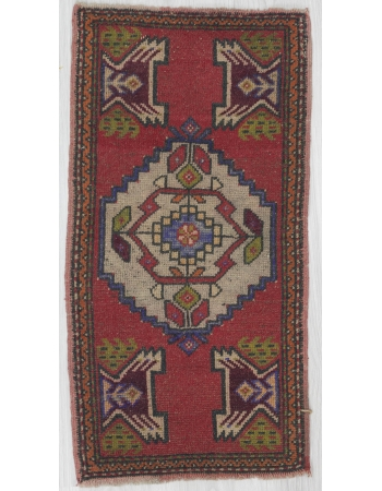 Vintage Decorative Mini Turkish Rug