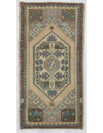 Vintage Decorative Mini Turkish Carpet