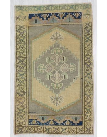 Vintage Mini Pastel Turkish Rug