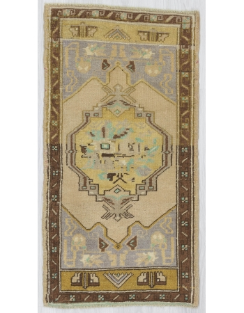 Vintage Decorative Mini Turkish Carpet
