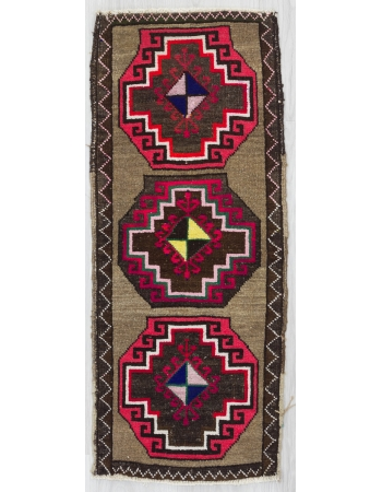 Decorative Vintage Turkish Mini Rug