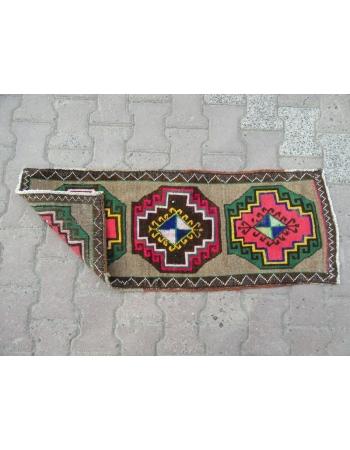Decorative Unique Vintage Mini Turkish Rug